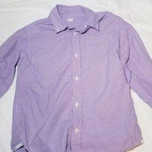 Crewcuts Boys sz 8 oxford long sleeve purple white